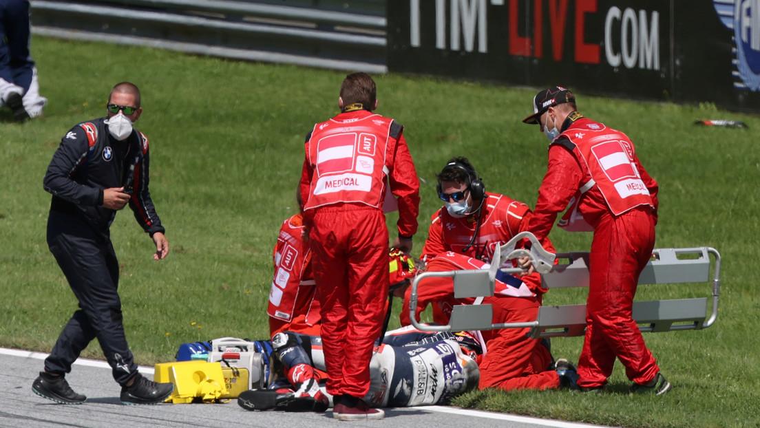 VIDEO: El escalofriante accidente en MotoGP que puso en peligro la vida de 4 pilotos
