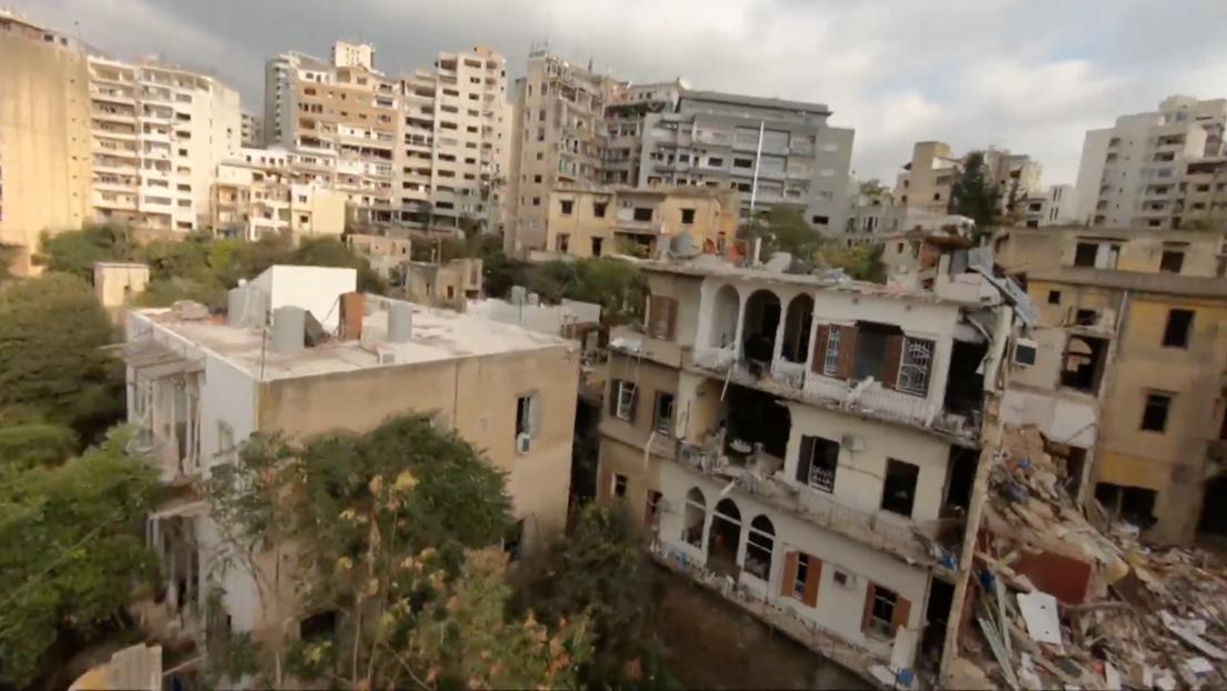 VIDEO: Imágenes aéreas de dron muestran la magnitud de la destrucción de las mortíferas explosiones de Beirut