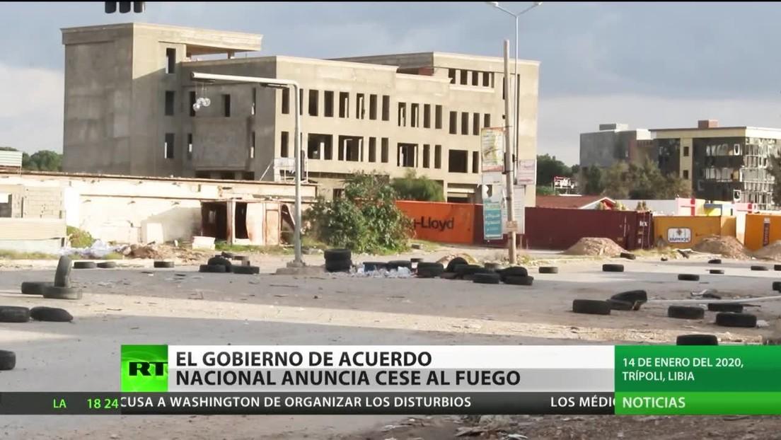El Gobierno de Acuerdo Nacional de Libia anuncia el cese al fuego