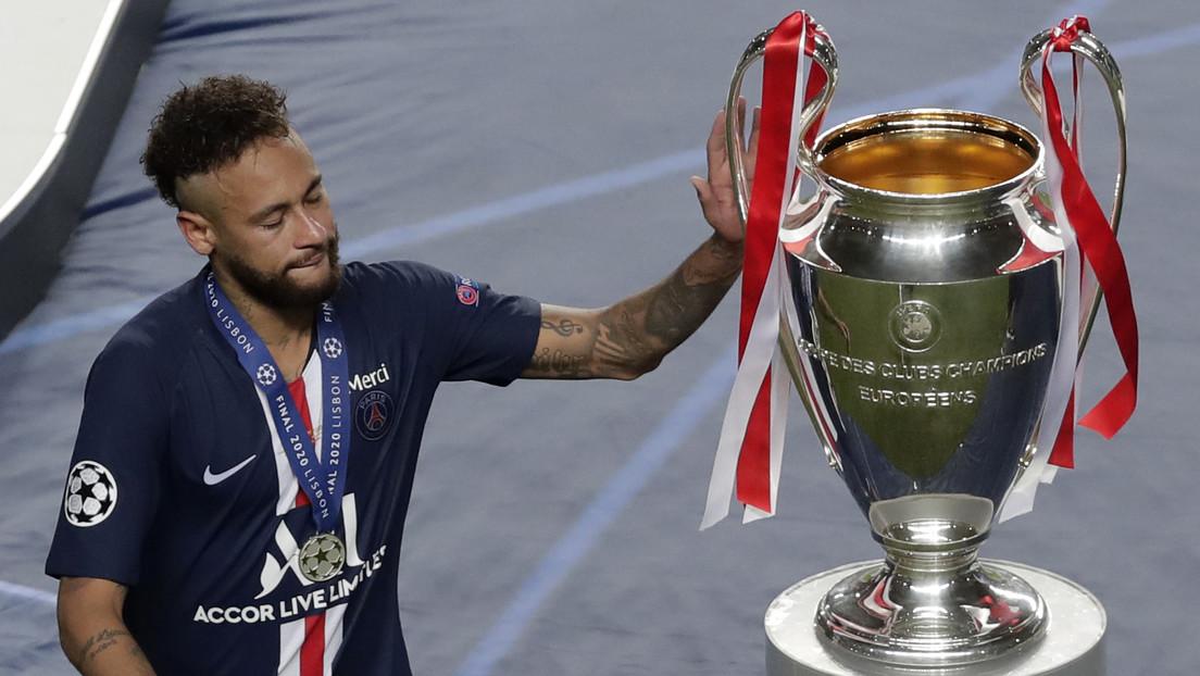 El llanto de Neymar tras perder la final de la Champions eclipsa el festejo de los jugadores del Bayern de Múnich (VIDEO) thumbnail
