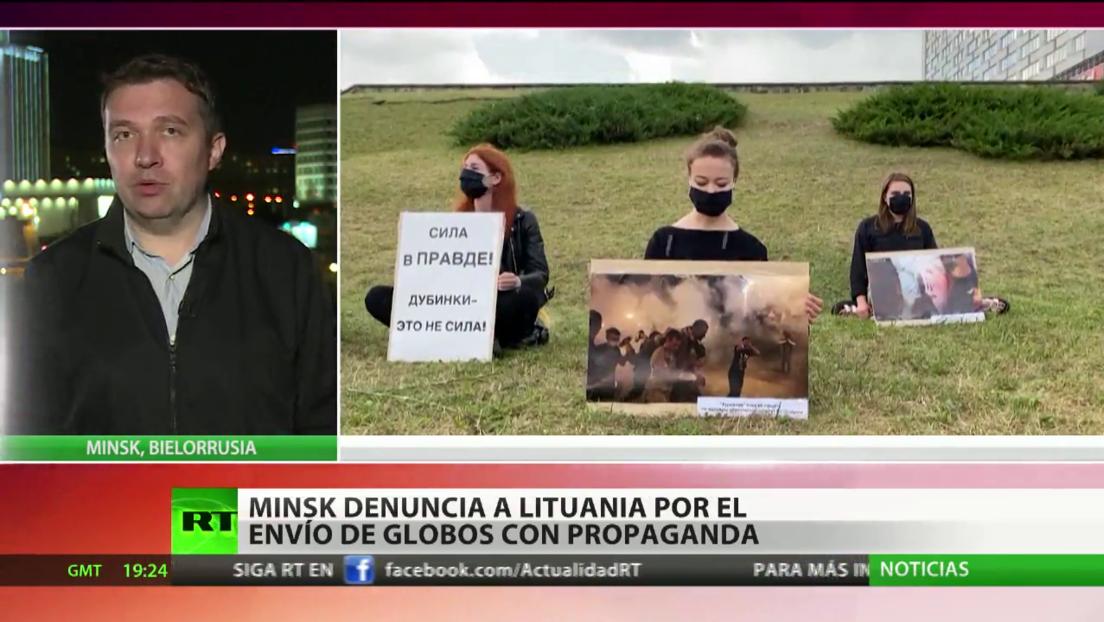 Bielorrusia denuncia a Lituania por el envío de globos con propaganda antigubernamental