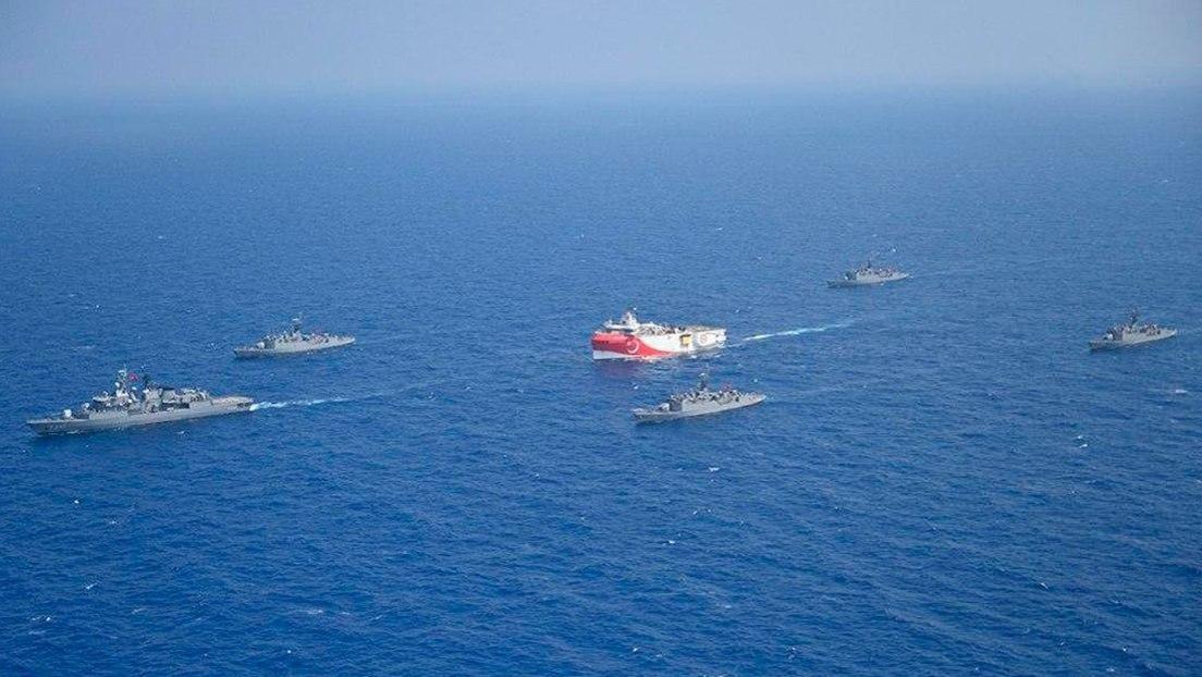 Turquía anuncia el inicio de maniobras militares con fuego real en el Mediterráneo oriental