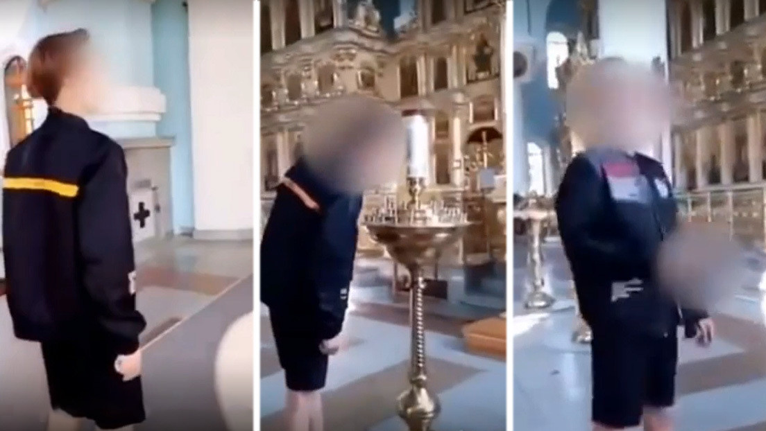 VIDEO: Un 'tiktoker' se filma entrando a una iglesia y prendiendo un cigarrillo con una vela