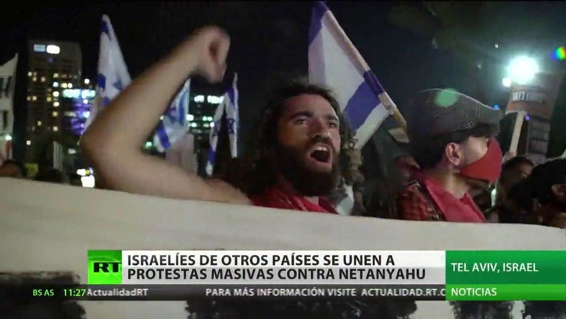 Israelíes en Europa y Norteamérica protestan contra Benjamín Netanyahu y exigen su salida
