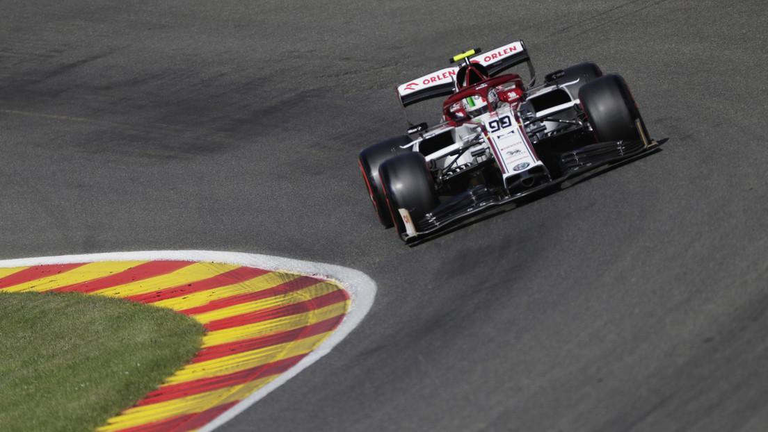 VIDEO: Giovinazzi y Russell sufren un fuerte accidente en el Gran Premio de Bélgica de Fórmula 1