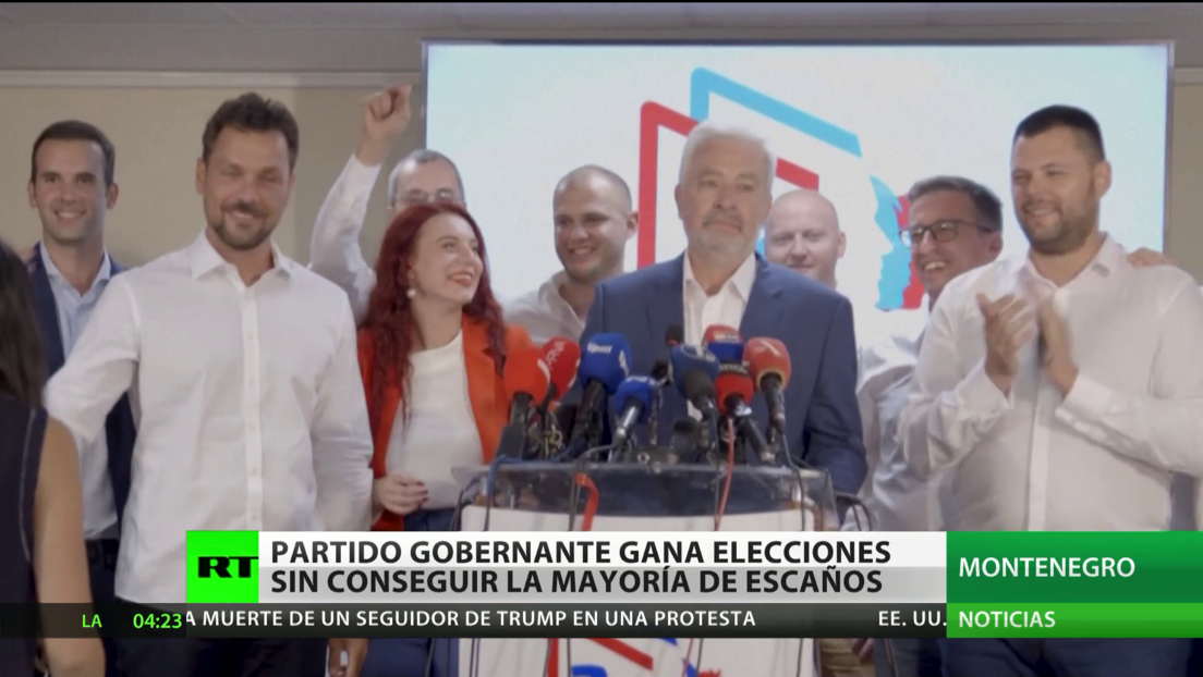 Partido gobernante de Montenegro gana las elecciones sin conseguir la mayoría de escaños