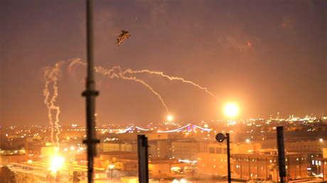 La defensa aérea de la Embajada de EE.UU. en Bagdad repele un ataque con proyectiles