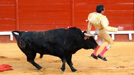 Der spanische Stierkämpfer Enrique Ponce erleidet eine neue Blutung in den Oberschenkeln, als er den Stier töten wollte