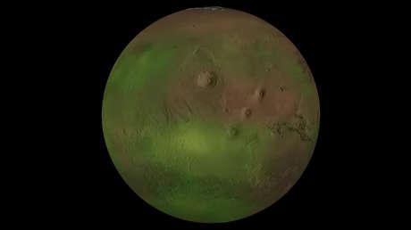 VIDEO: Detectan un parpadeo de luz ultravioleta en el cielo nocturno de Marte