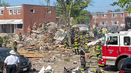 VIDEOS: Un muerto y al menos 2 heridos en estado crítico tras una gran explosión en Baltimore