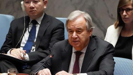 """El secretario general de la ONU advierte sobre una """"división del mundo en dos partes"""" por las controversias entre China y EE.UU."""