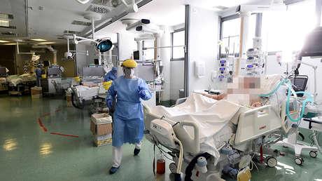Imagen ilustrativa. El hospital Papa Giovanni XXIII, Bérgamo, Italia, el 12 de mayo de 2020.
