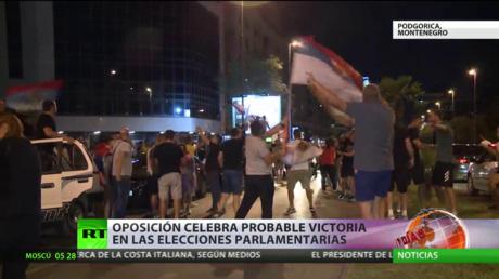 La oposición celebra su probable victoria en las elecciones parlamentarias de Montenegro