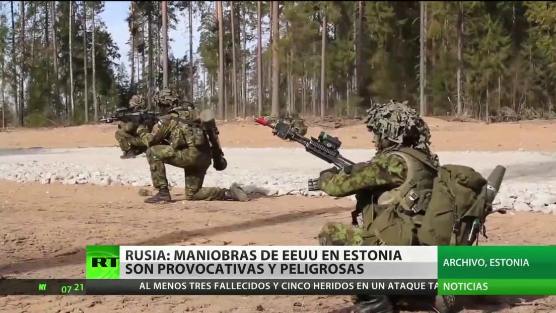 """Rusia califica las maniobras de EE.UU. en Estonia de """"peligrosas y provocativas"""""""