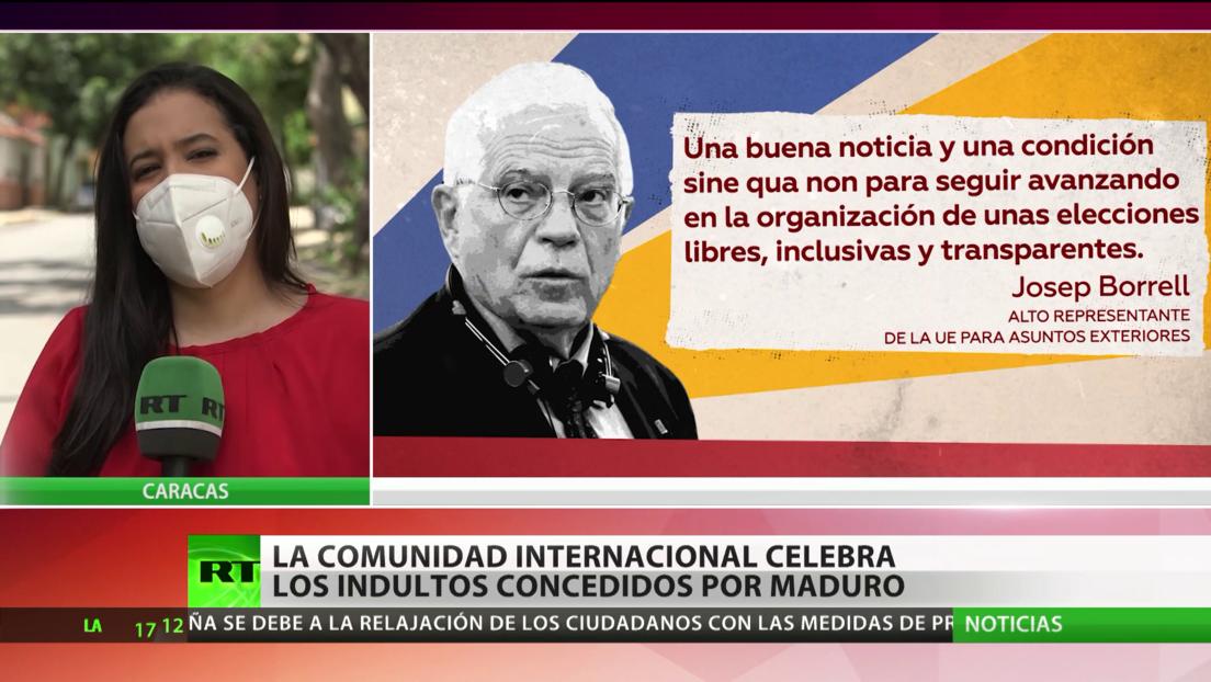 La comunidad internacional celebra los indultos concedidos por Maduro a varios opositores