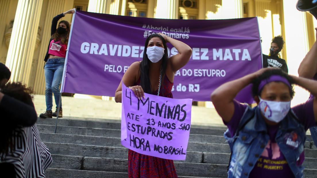 Otra niña de 11 años embarazada en Brasil tras ser violada por su padrastro durante un año