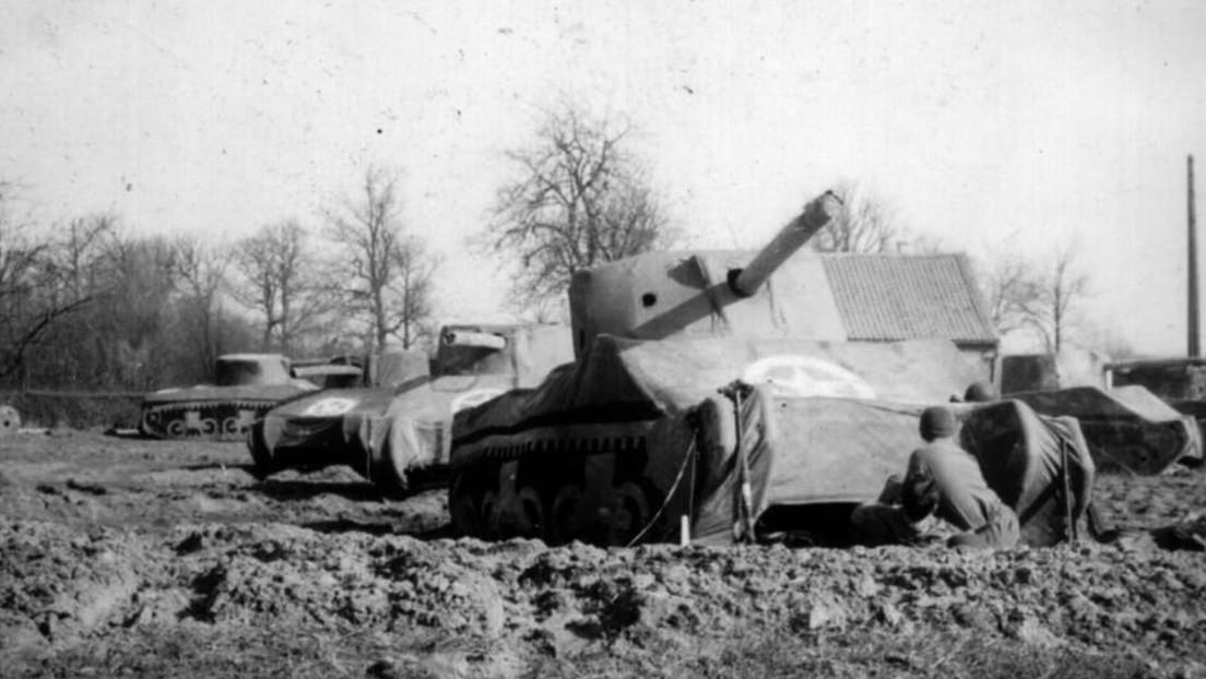 """El """"Ejército Fantasma"""" de EE.UU. usó tanques inflables para engañar a los nazis durante la Segunda Guerra Mundial"""