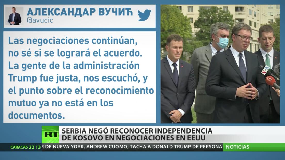 Serbia se niega a reconocer la independencia de Kosovo durante una cumbre en Washington