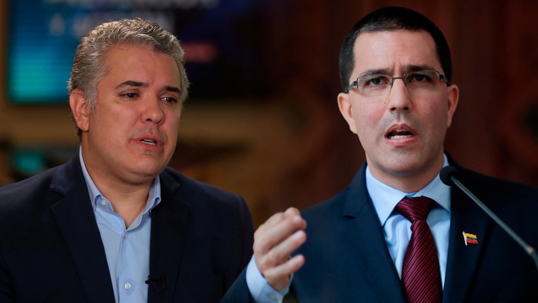 """Venezuela tilda de """"desfachatez"""" las acusaciones de Colombia de financiar un plan desestabilizador contra Duque"""
