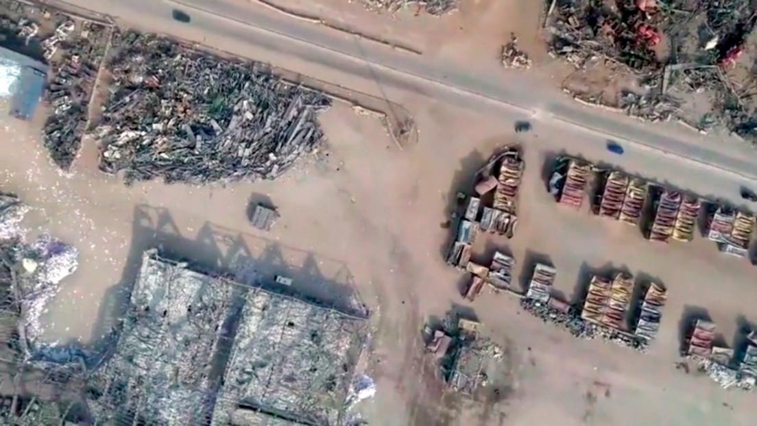 VIDEO: Dron muestra un Beirut desolado a un mes de la explosión que devastó la ciudad