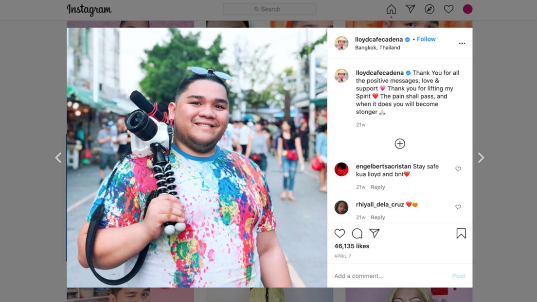 Muere a los 26 años el 'youtuber' filipino Lloyd Cafe Cadena