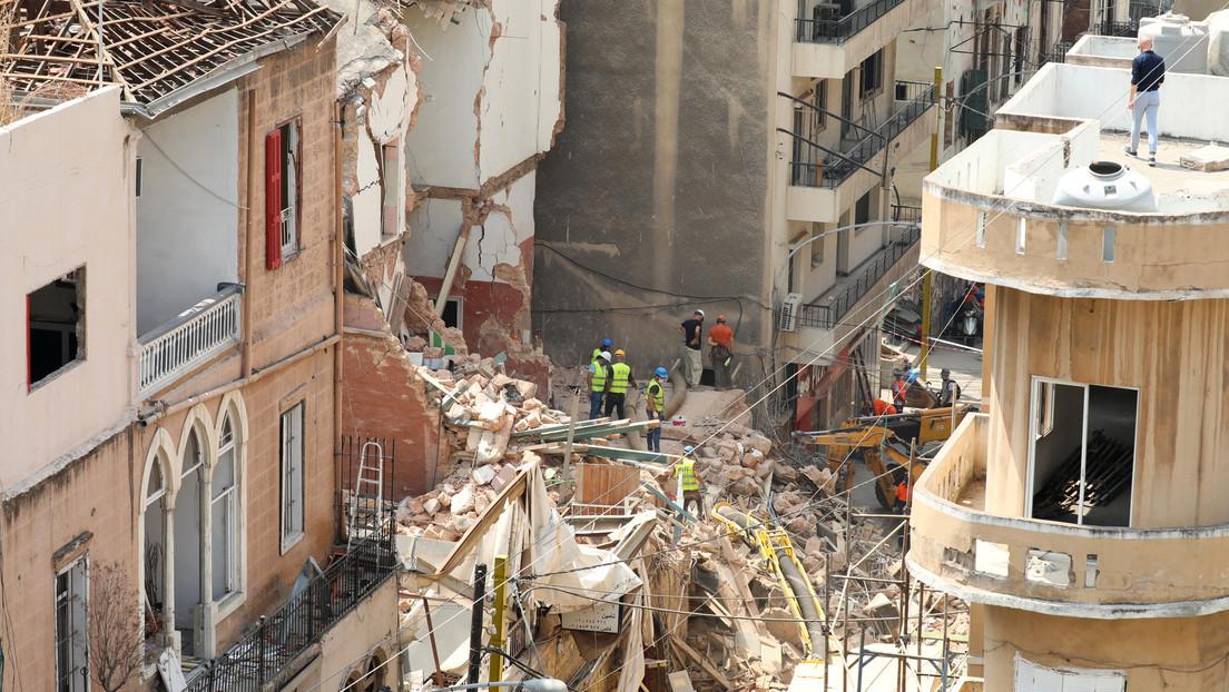 """Beirut: Descartan """"señales de vida"""" en un edificio, tras días de búsqueda de un posible sobreviviente"""