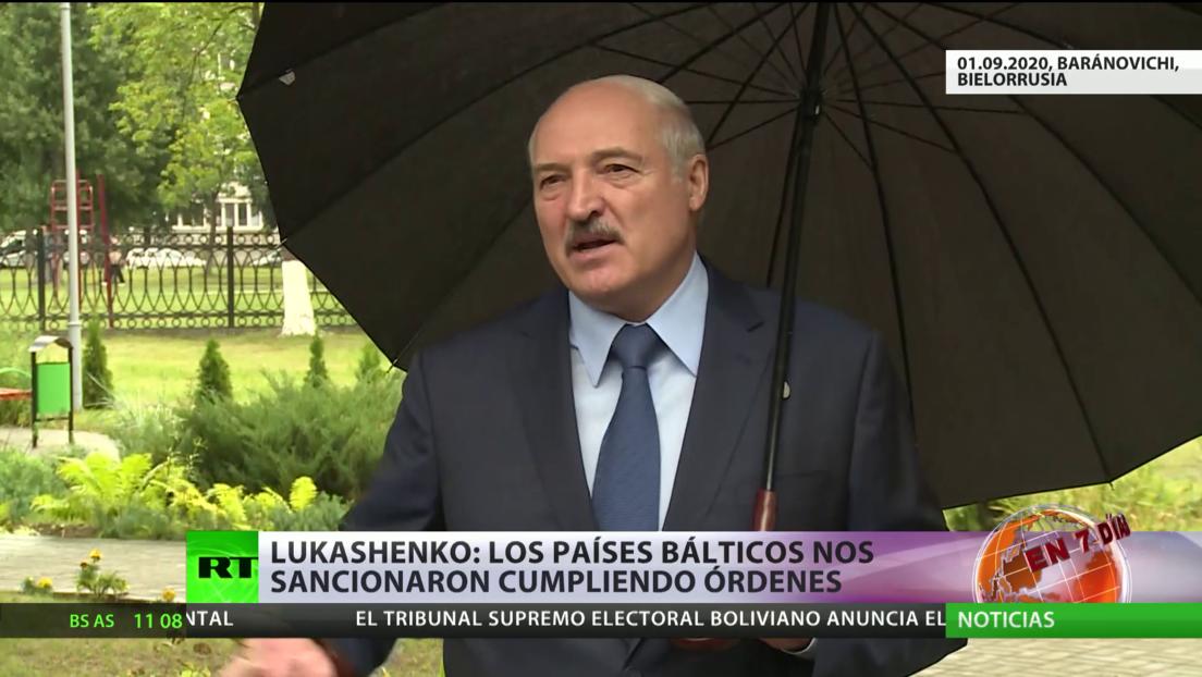 Tres países bálticos sancionaron a Lukashenko y varios funcionarios bielorrusos