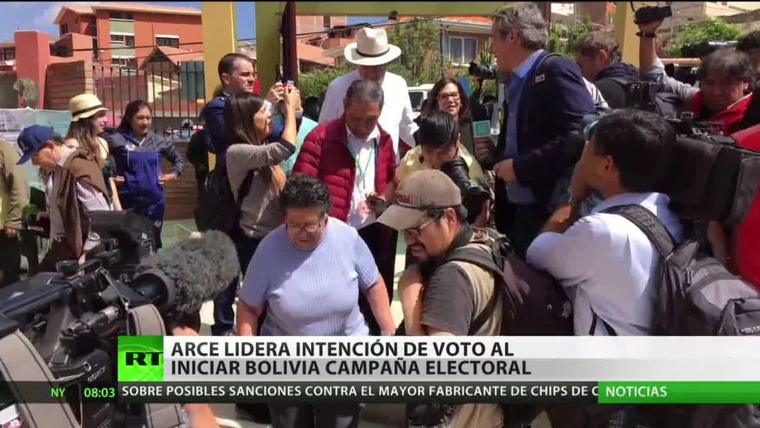 Bolivia: Luis Arce lidera la intención de voto al comienzo de la campaña electoral