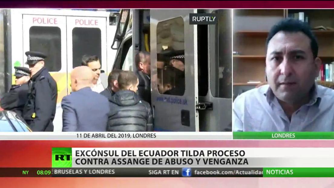 """Excónsul de Ecuador tilda de """"abuso"""" y """"venganza"""" el proceso contra Assange"""
