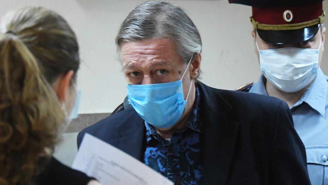Condenan a 8 años de prisión al famoso actor ruso Mijaíl Yefrémov por matar a un hombre mientras conducía ebrio por el centro de Moscú