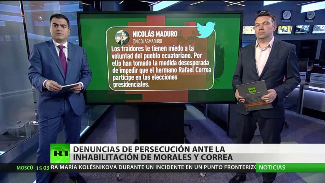 Denuncian persecución tras la inhabilitación de Rafael Correa y Evo Morales