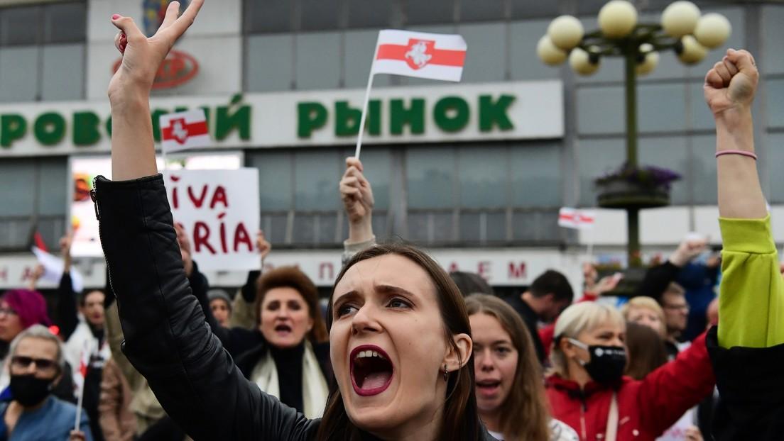 VIDEO: Detienen en Minsk a participantes de una manifestación en apoyo a la opositora María Kolésnikova
