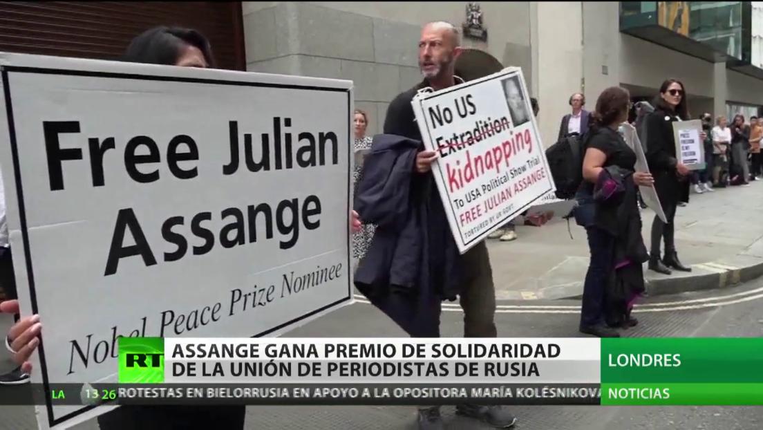 Julian Assange gana el Premio de Solidaridad de la Unión de Periodistas de Rusia