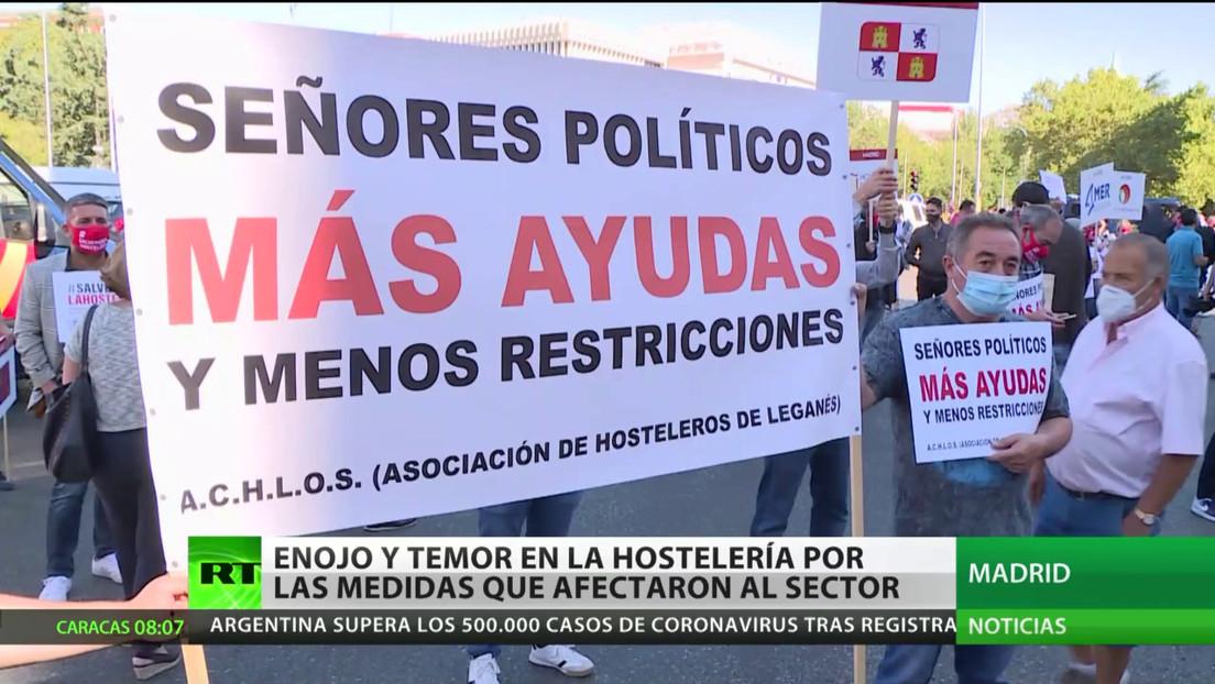 España: Enojo y temor en el sector de la hostelería por las restricciones contra el covid-19