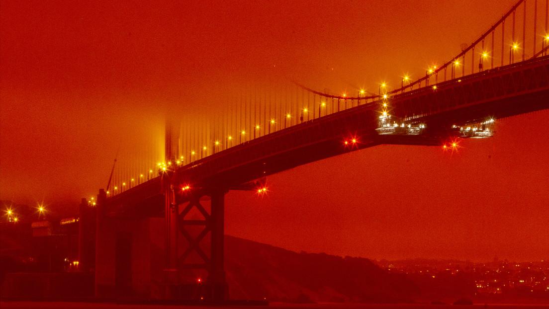 VIDEO: Incendios forestales tiñen de naranja el cielo de San Francisco y convierten esa ciudad en el escenario de una película apocalíptica
