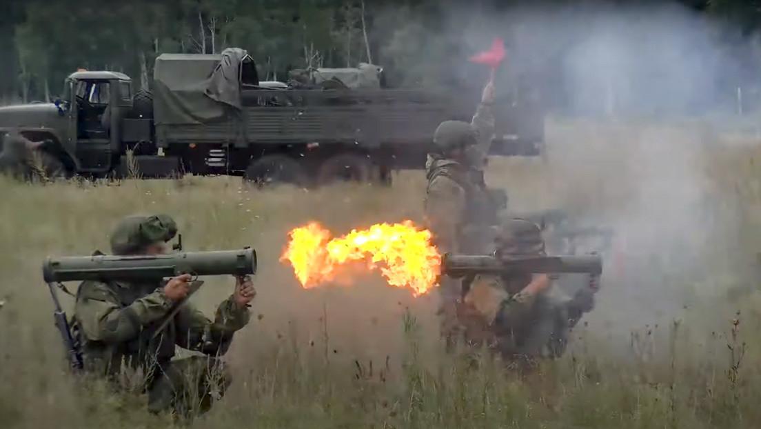 VIDEO: Así se entrenan los operadores de los lanzallamas reactivos rusos Shmel
