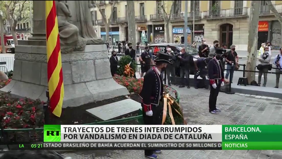 Actos vandálicos interrumpen la circulación de trenes durante la Diada de Cataluña