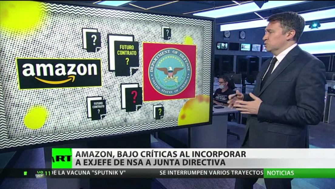 Amazon, blanco de críticas por incorporar al exjefe de la NSA a su junta directiva