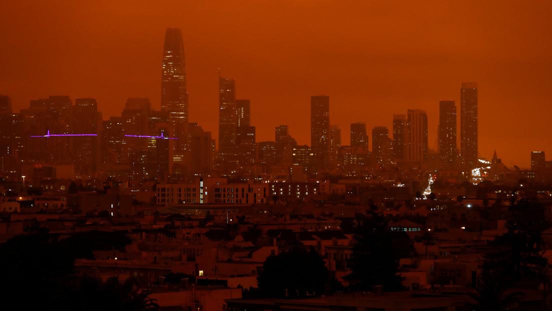 VIDEO: El cielo de San Francisco se tiñe de rojo y capta miles de miradas por su aspecto apocalíptico
