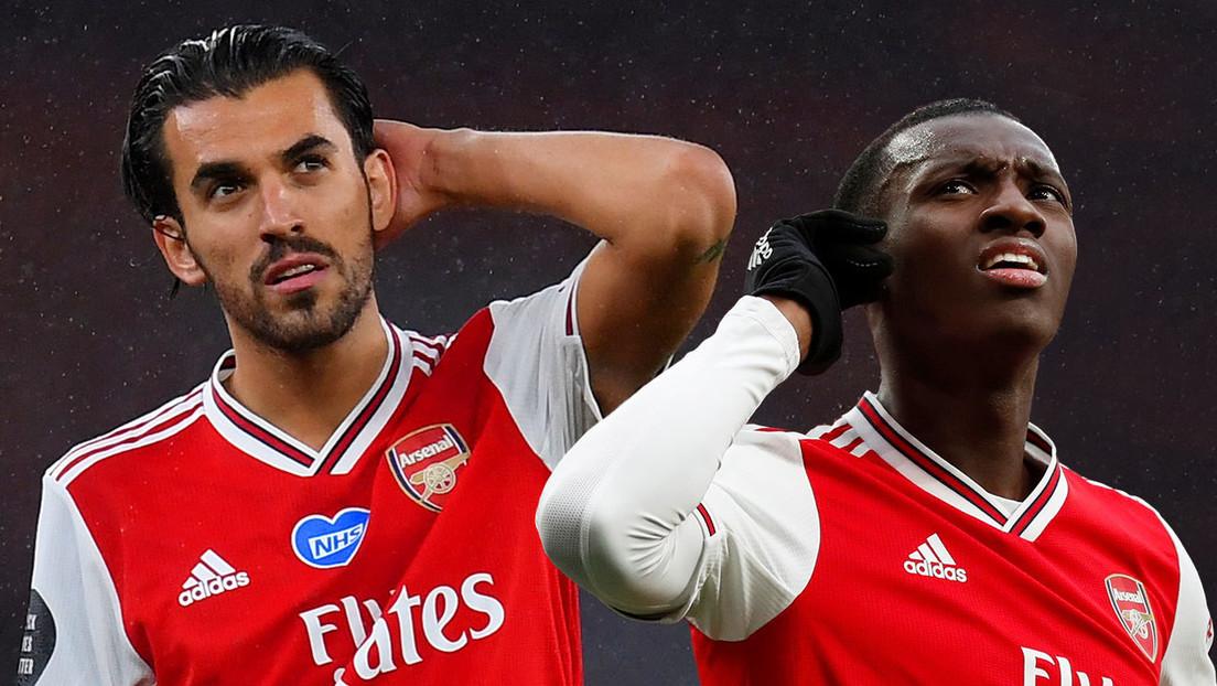 VIDEO: Dani Ceballos y Eddie Nketiah, a empujones durante entrenamiento previo al partido del Arsenal thumbnail