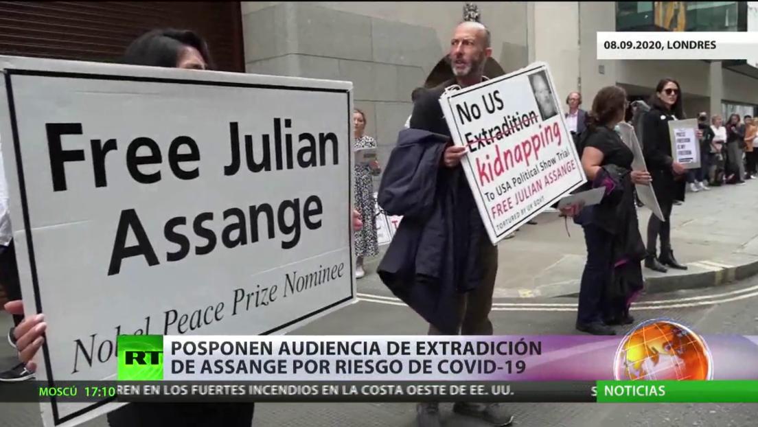 Posponen la audiencia de extradición de Assange por riesgo del coronavirus
