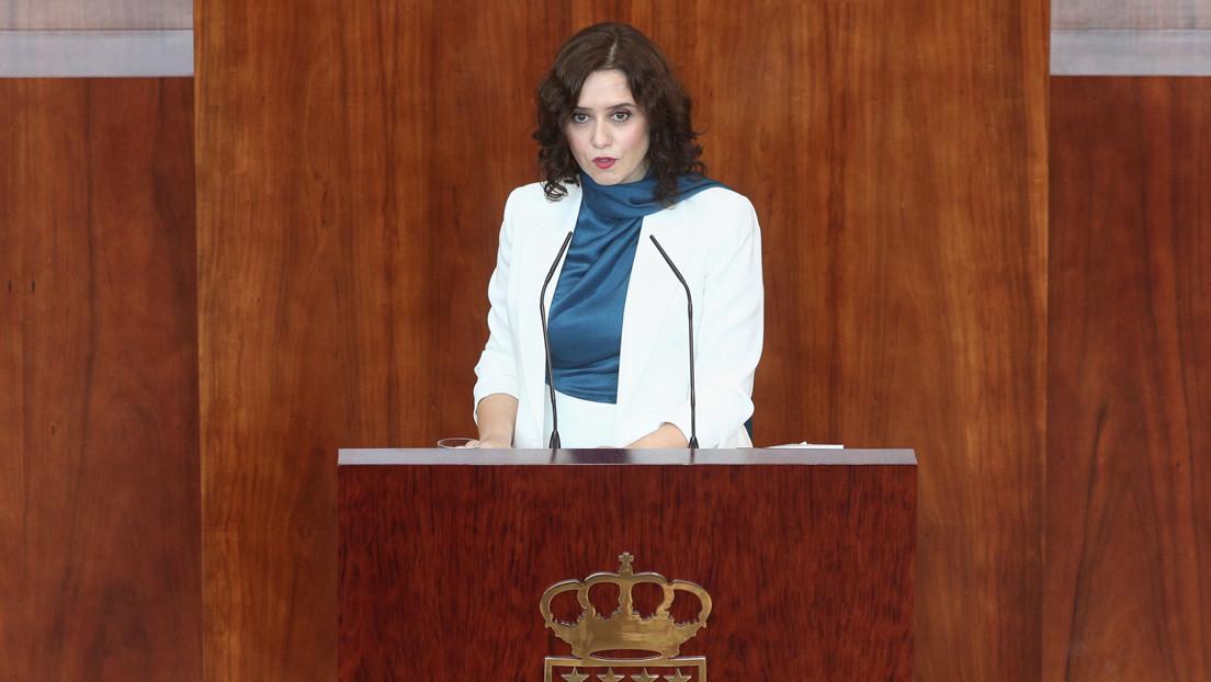 La presidenta de Madrid anuncia una bajada de impuestos en plena pandemia y estallan las críticas