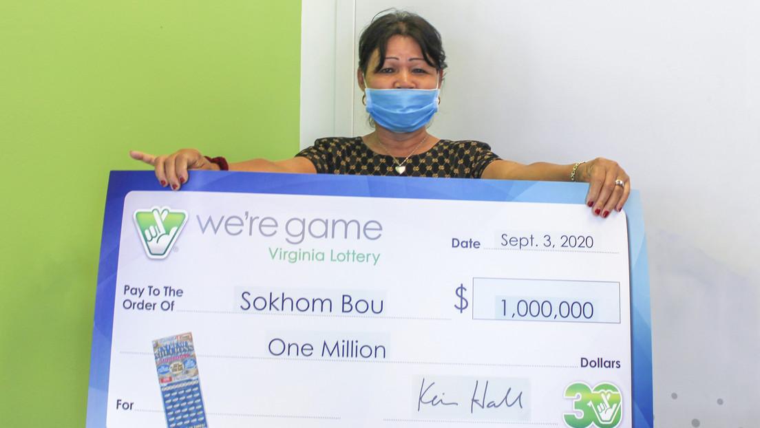 Una mujer gana un millón de dólares a la lotería el día de cumpleaños