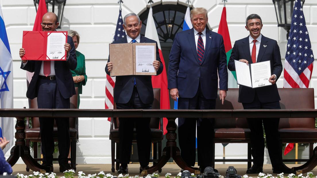 Israel firma acuerdos de paz con EAU y Baréin en una ceremonia en la Casa Blanca