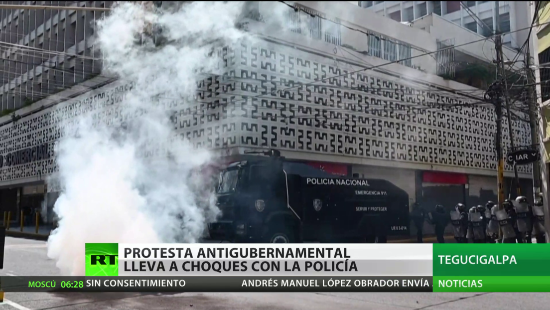 Protesta antigubernamental en Honduras lleva a choques con la Policía