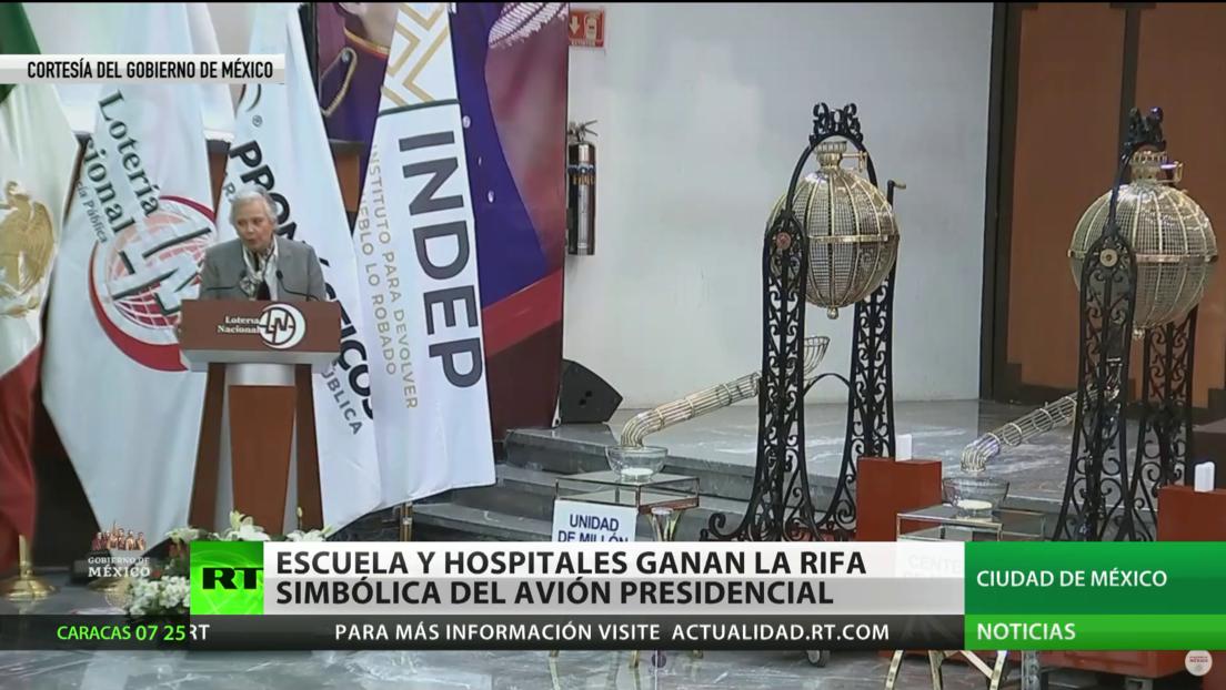 México: Varios hospitales y una escuela rural ganan la rifa simbólica del avión presidencial de Peña Nieto