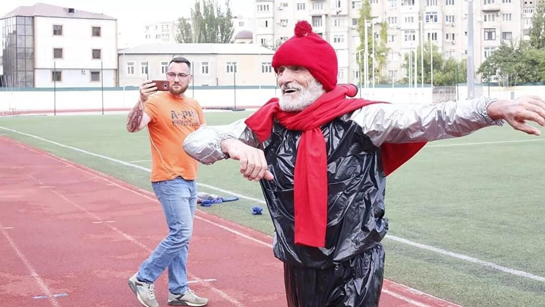 Jubilado ruso establece un récord al perder casi 10 kilos en cinco horas