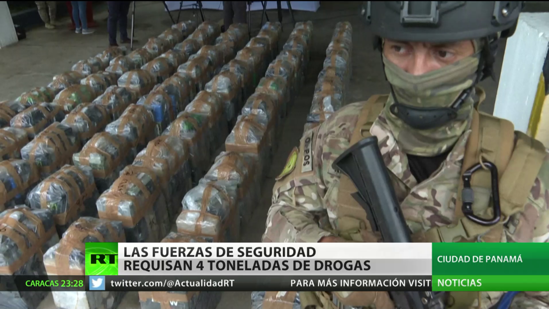 Las fuerzas de seguridad de Panamá requisan cuatro toneladas de drogas