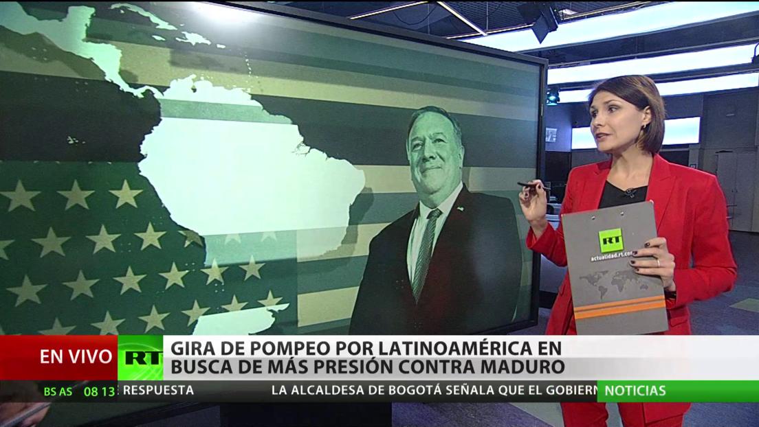 Gira de Pompeo por Latinoamérica en busca de reforzar la presión contra Maduro