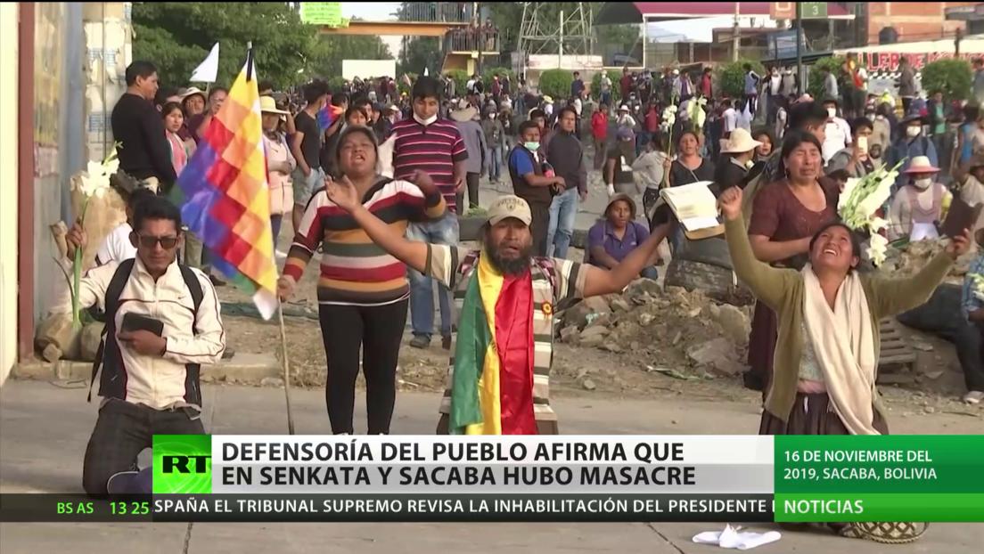 Bolivia: Defensoría del Pueblo afirma que en Senkata y Sacaba hubo masacres tras la dimisión forzada de Evo Morales